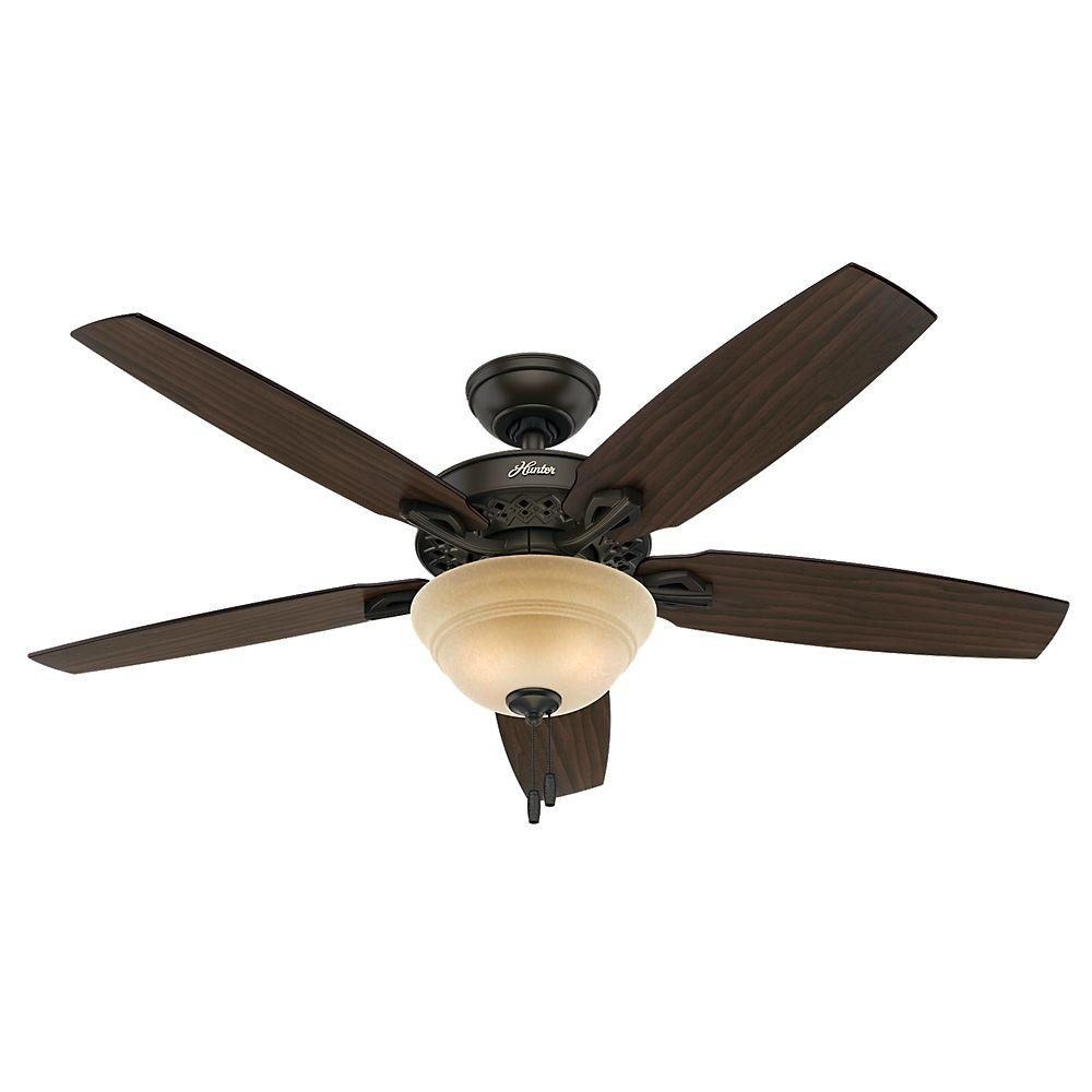 Hunter Fan Company Builder Great Room New Bronze Ceiling: Hunter Heathrow 52 In. Indoor New Bronze Ceiling Fan With
