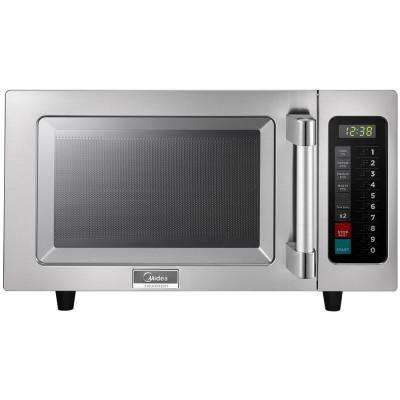 0.9 cu. ft. 1000-Watt Commercial Countertop Microwave Oven Programmable in Stainless Steel In and Out