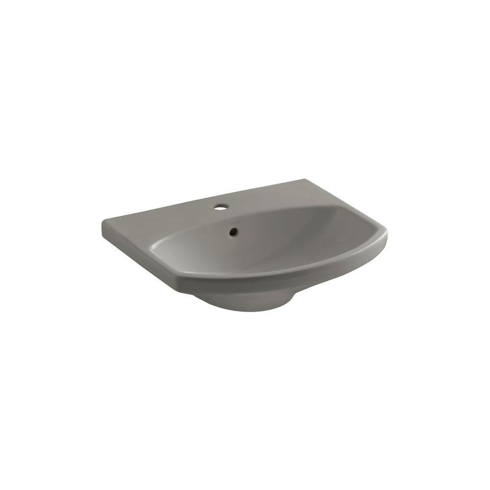 KOHLER Cimarron 3-5/8 in. Pedestal Sink Basin in Cashmere-DISCONTINUED