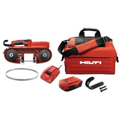 22-Volt SB 4-A22 Compact Cordless Band Saw Kit with 3-Pack of 10 TPI / 14 TPI Band Saw Blades, Battery Pack and Tool Bag