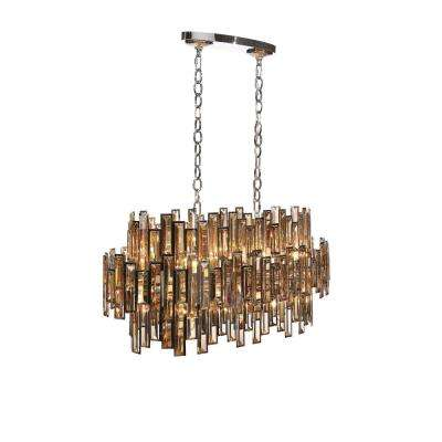 Vienna Collection 16-Light Chrome Chandelier with Crystal Shade