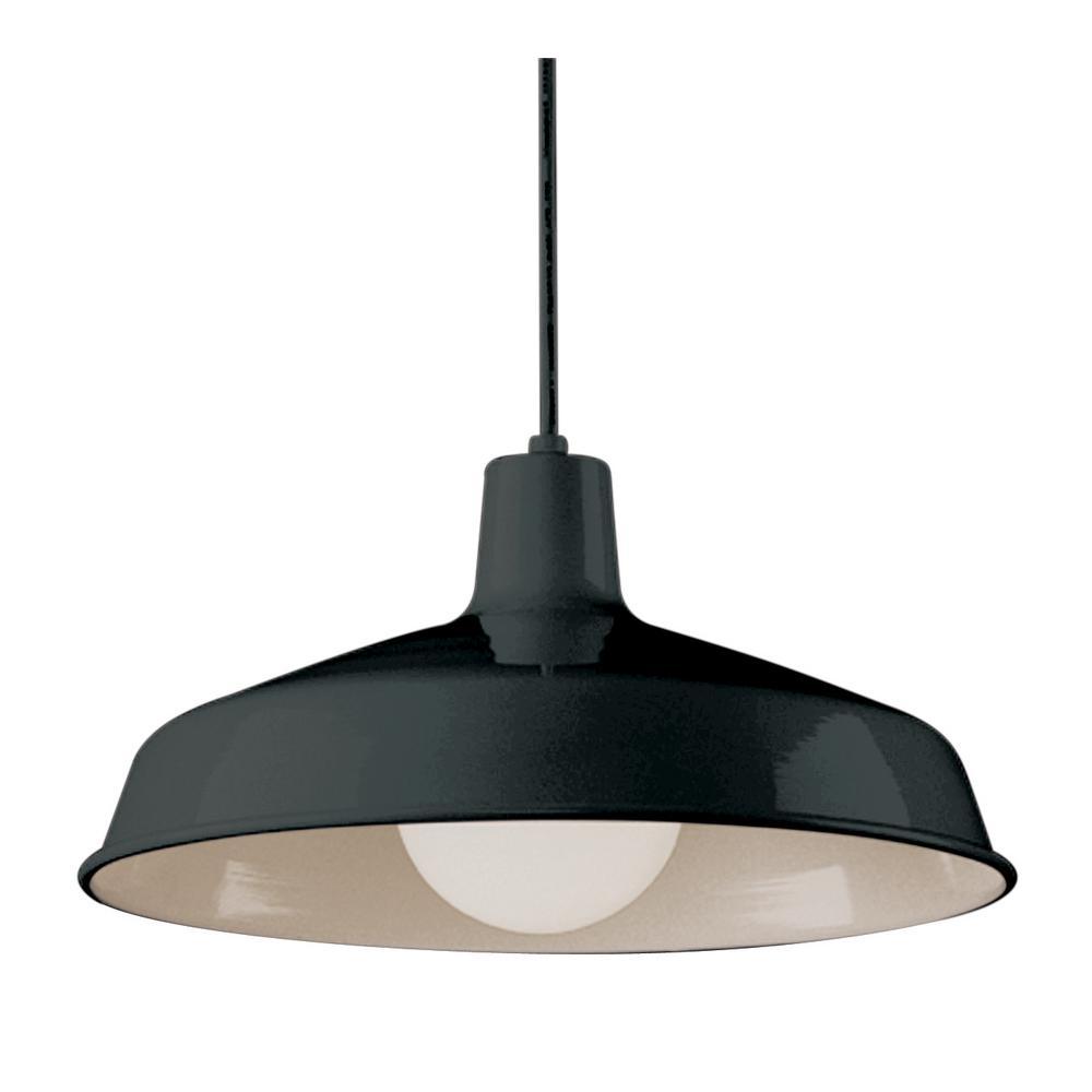 1 light black pendant