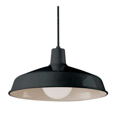 1-Light Black Pendant