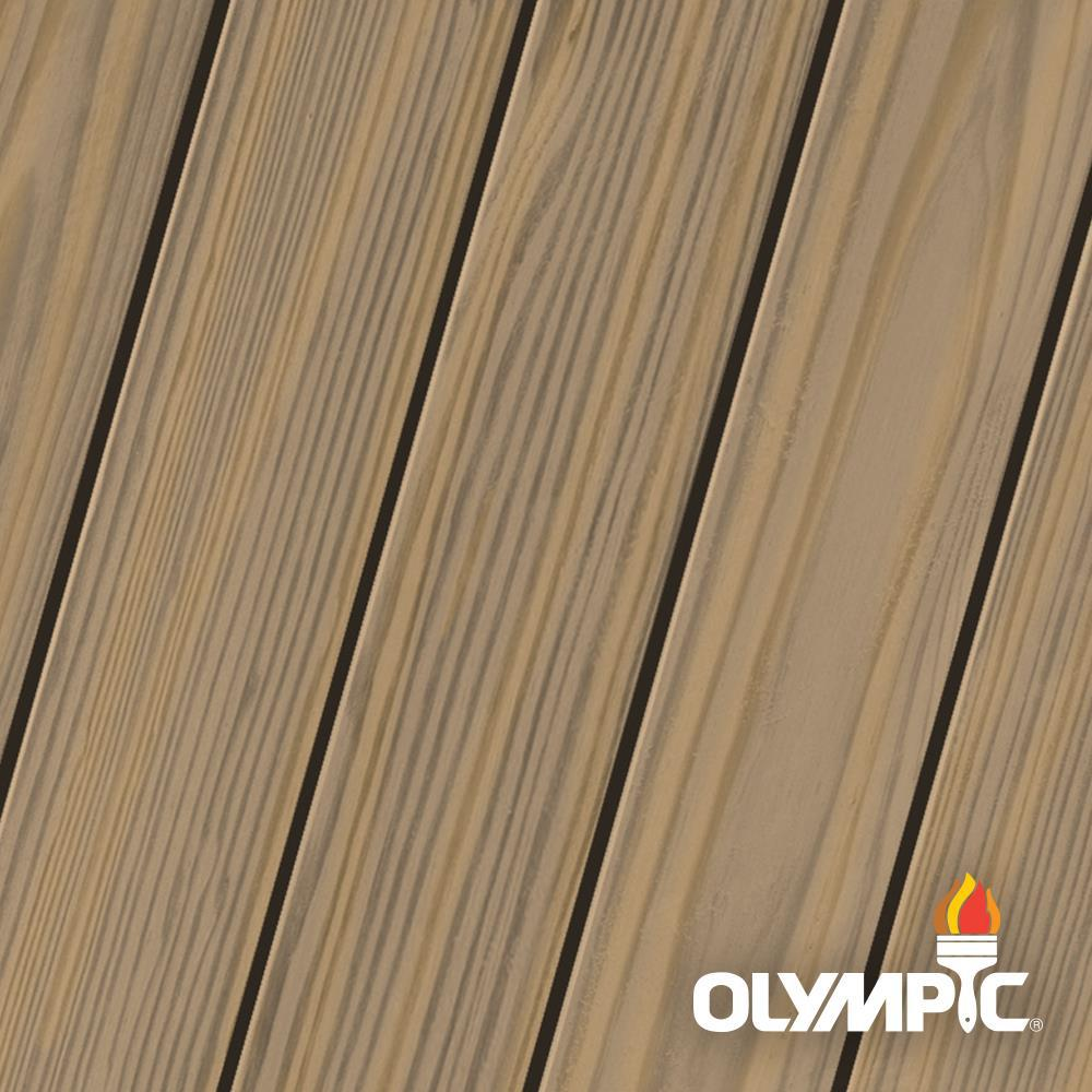 Olympic Maximum 1-qt. Mushroom (Brown) Semi-Transparent Advanced Exterior Stain and Sealant in One Low VOC -  OLY910-04