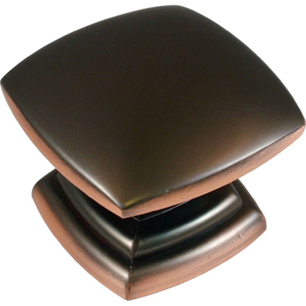 Euro-Contemporary 1-1/2 in. Oil-Rubbed Bronze Cabinet Knob