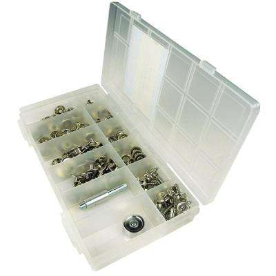 Nickel Plated Brass Canvas Snap Kit With Tool (144-Piece)