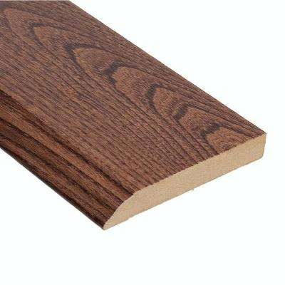 Elm Walnut 1/2 in. Thick x 3-1/2 in. Wide x 94 in. Length Hardwood Wall Base Molding