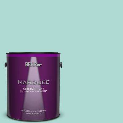 1 gal. #M450-3 Wave Top One-Coat Hide Ceiling Flat Interior Paint and Primer in One