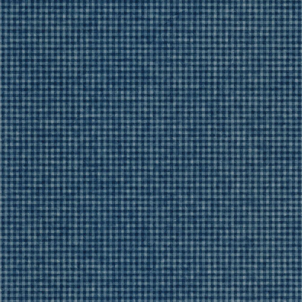 The Wallpaper Company 56 sq. ft. Blue Oil in Water Check Wallpaper