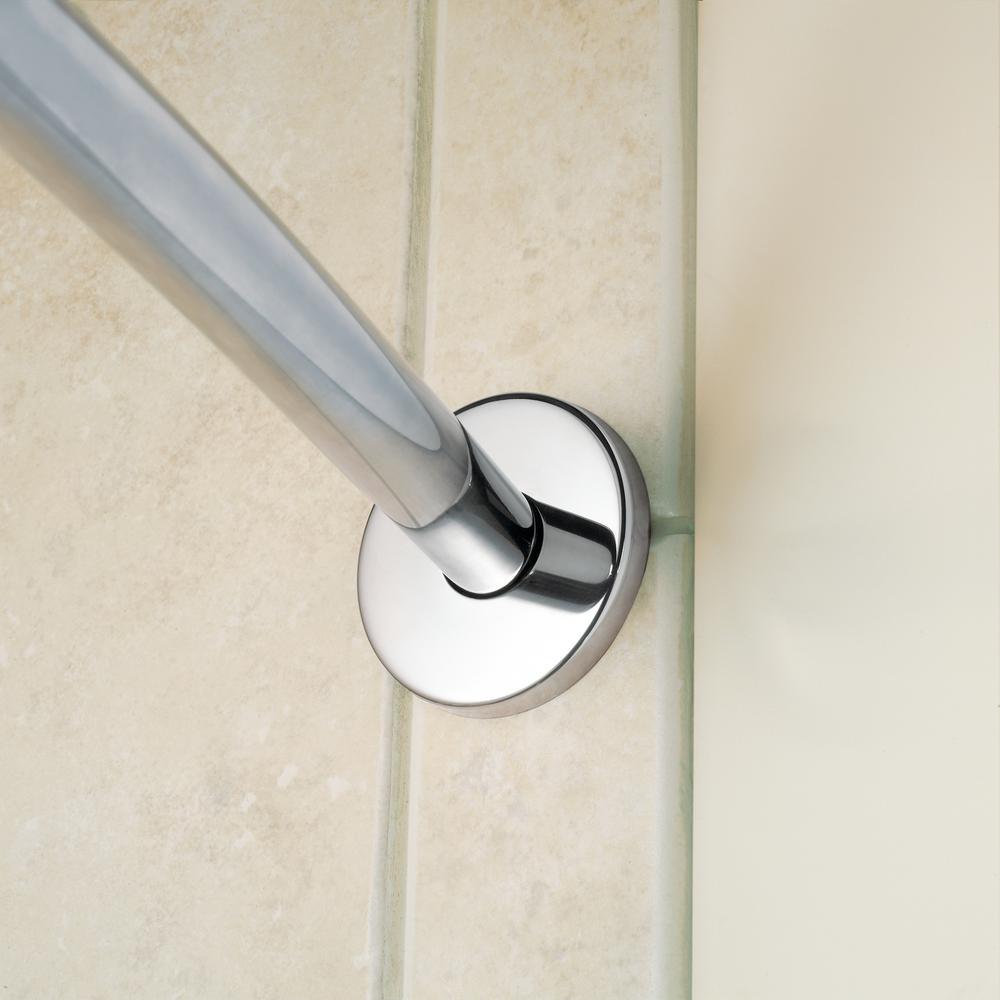 Moen 65-F Polished Stainless Curved Shower Rod Flange Kit Flange Only