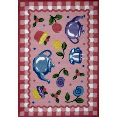 Olive Kids Tea Party Multi Colored 3 ft. x 5 ft. Area Rug