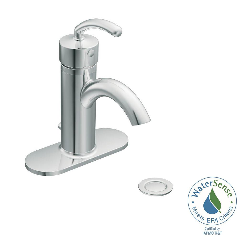 MOEN Icon Single Hole Single-Handle Low-Arc Lavatory Faucet in ...