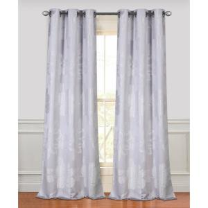 Click here to buy  84 inch Floral Park Silver Grommet Curtain Panel Pair.