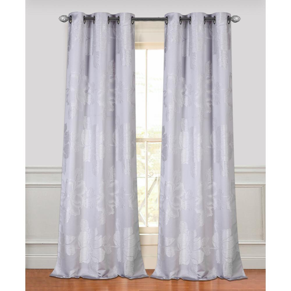 Achim Tranquil Silver Lined Grommet Window Curtain Panel