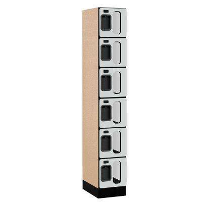 S-36000 Series 12 in. W x 76 in. H x 18 in. D 6-Tier Box Style See-Through Designer Wood Locker in Gray