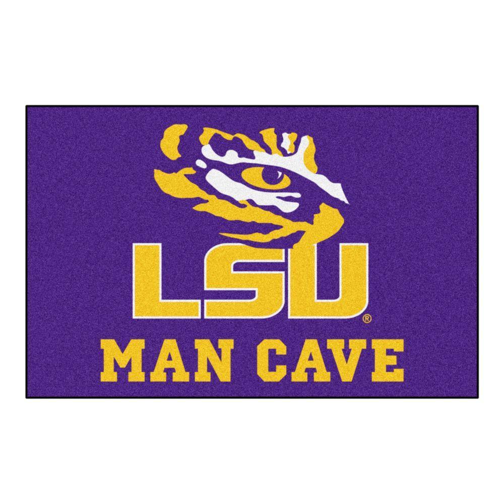 Louisiana State University Purple Man Cave 2 Ft X 3 Area Rug