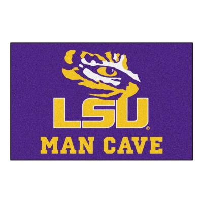 Louisiana State University Purple Man Cave 2 ft. x 3 ft. Area Rug