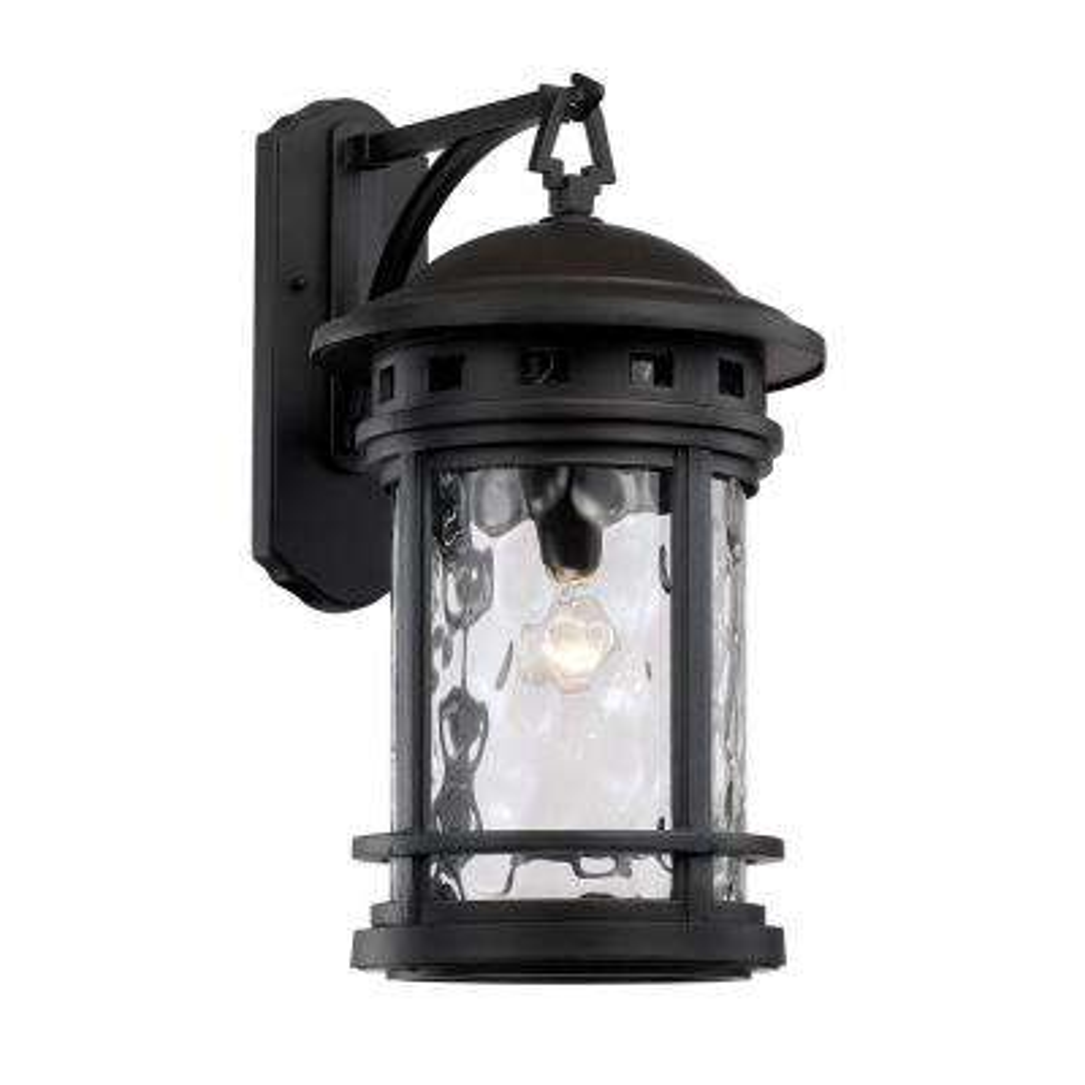1-Light Black Outdoor Chimney Stack Wall Lantern