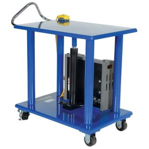Vestil 4,000 lb. Capacity 32 inch x 48 inch DC Power Hydraulic Post Table by Vestil