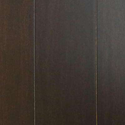 Ebony 7/16 in. Thick x 3-5/8 in. Wide x Random Length Click Lock Solid Strand Bamboo Flooring (28.75 sq. ft. / case)