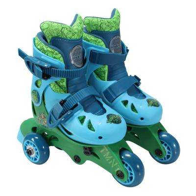 Teenage Mutant Ninja Turtles Junior Size 6-9 Convertible Roller Skates