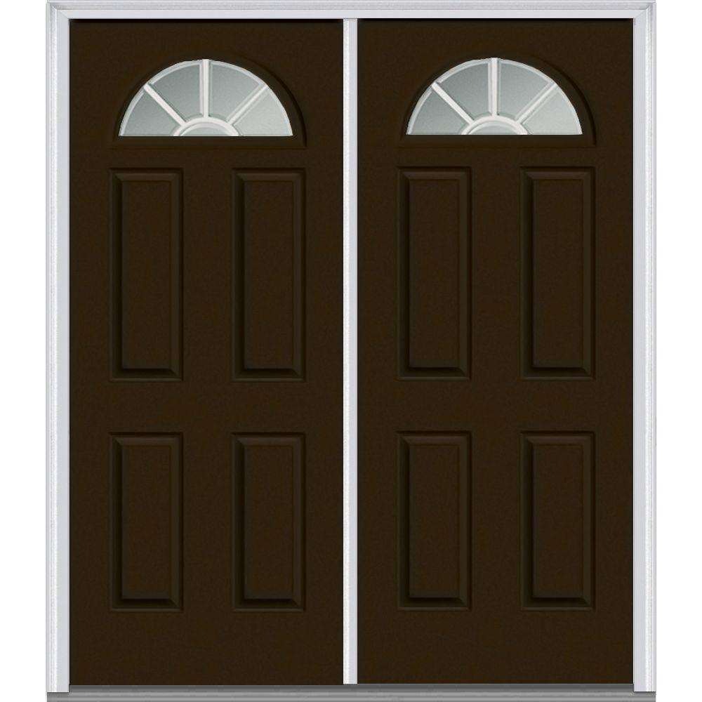 Double Door Fiberglass Doors Front Doors The Home Depot