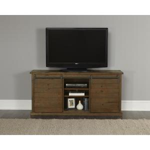 Huntington 64 in. Distressed Pine Entertainment Console
