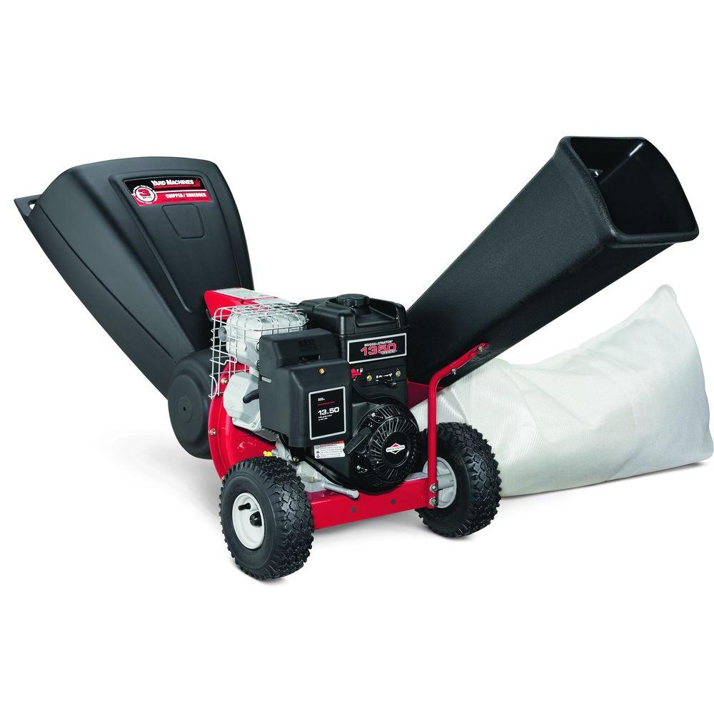 Yard Machines 3 in. 250 cc OHV Tip-Down 3-in-1 Gas Chipper Shredder ...