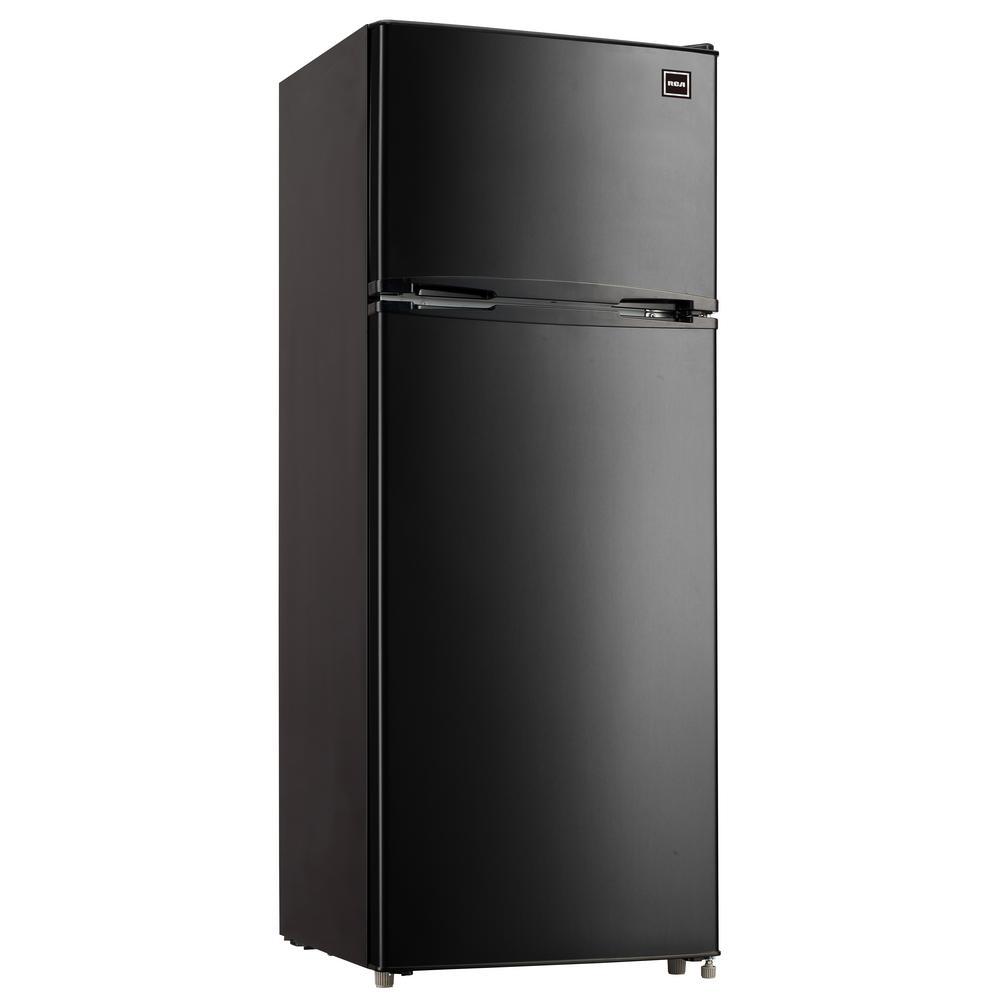 Rca 7 5 Cu Ft Mini Refrigerator In Black Rfr741 Black The Home Depot