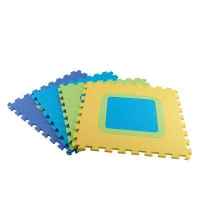 Multi-Color 20.86 in. x 20.86 in. x 0.39 in. Mix N Match Playroom Floor (4-Pack)