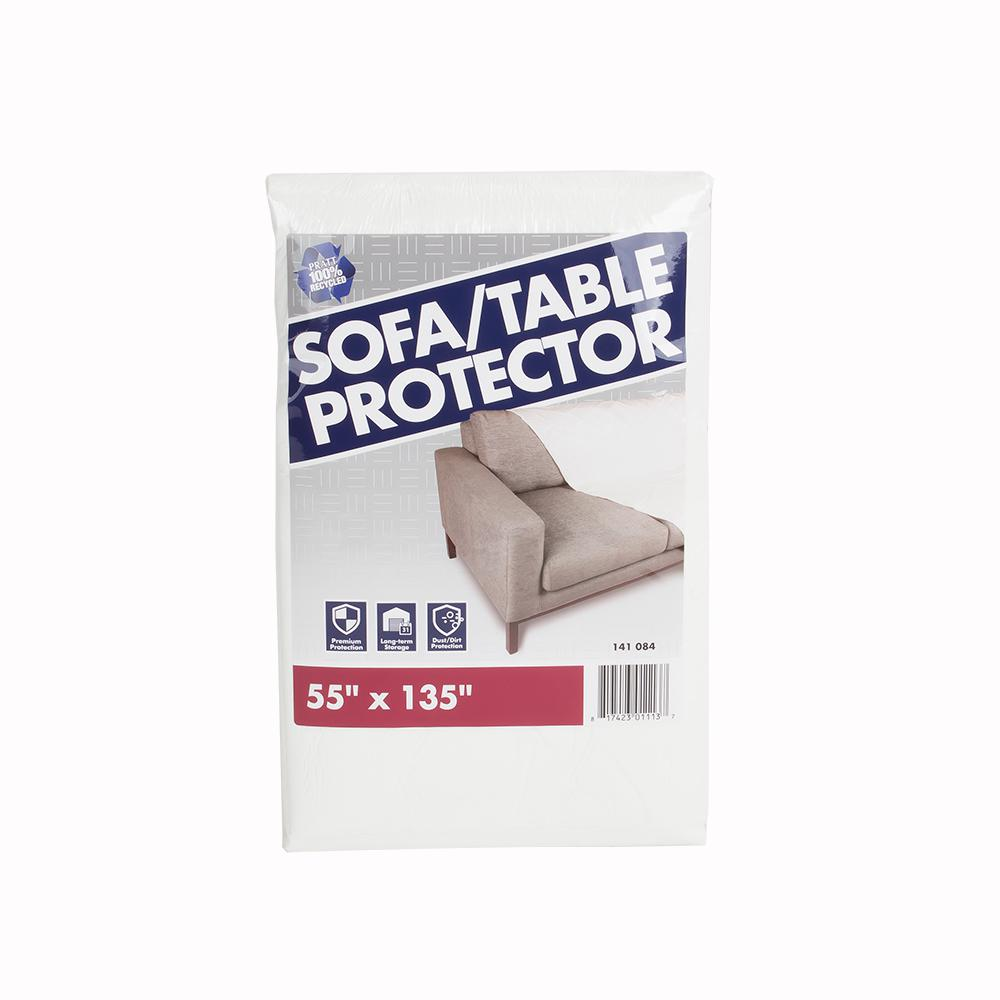 Pratt Retail Specialties Plastic Cover for Couch and Furniture 55 in. W x 135 in. L