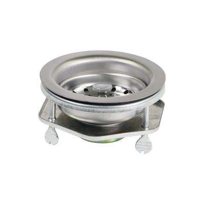 3-1/2 in. - 4 in. Kitchen Sink EZ Connect Stainless Steel Drain Assembly with Strainer Basket Stopper