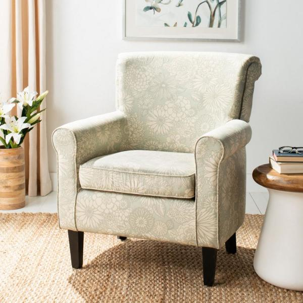 Safavieh Hazina Abbey Mist Cotton Blend Club Arm Chair MCR1002B