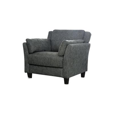 Elly Gray Linen Accent Chair