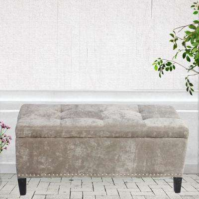 Chocolate Tufted Storage Bench