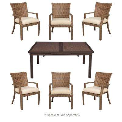 Tobago 7-Piece Patio Dining Set with Cushion Insert (Slipcovers Sold Separately)