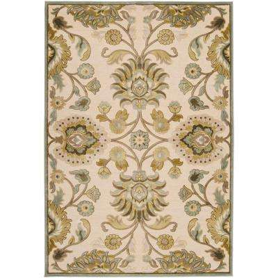 Lauren Ivory Viscose and Chenille 8 ft. x 11 ft. Area Rug