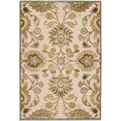 Lauren Ivory Viscose and Chenille 9 ft. x 12 ft. Area Rug