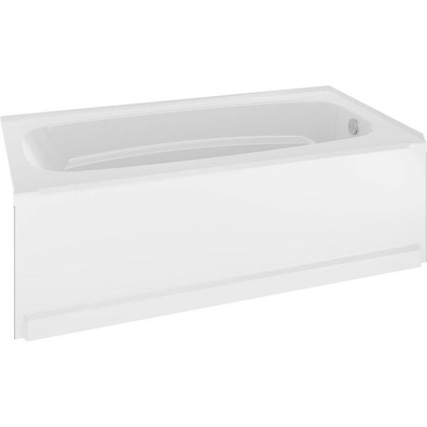 Classic 400 60 in. Right-Hand Drain Rectangle Alcove Non-Whirlpool Bathtub in High Gloss White