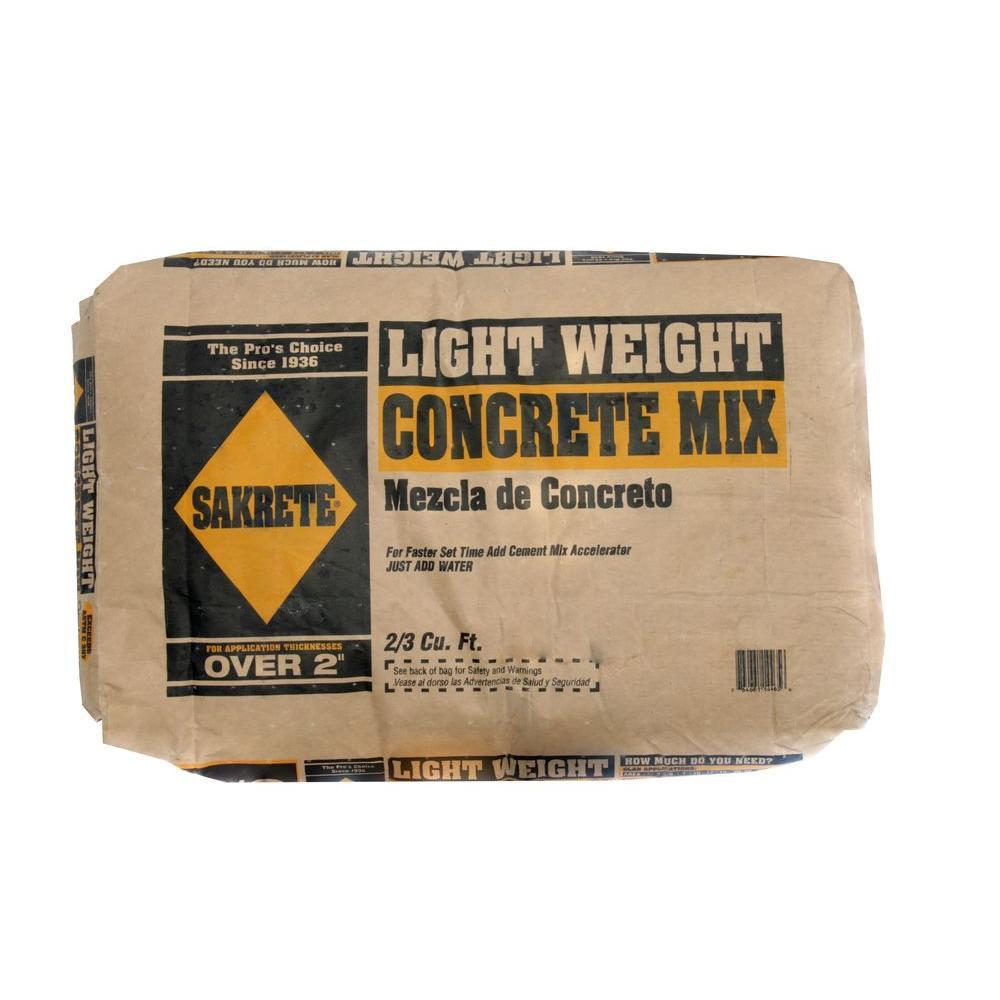 Sakrete 63 Lb 23 Cu Ft Lightweight Concrete Mix 100033440 The