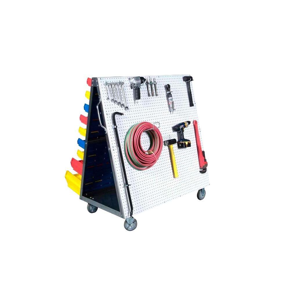 Triton Products LocBoard 48 in. L x 51-1/2 in. H x 29-3/4 in. W LP/DB Tool Cart