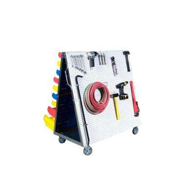 LocBoard 48 in. L x 51-1/2 in. H x 29-3/4 in. W LP/DB Tool Cart
