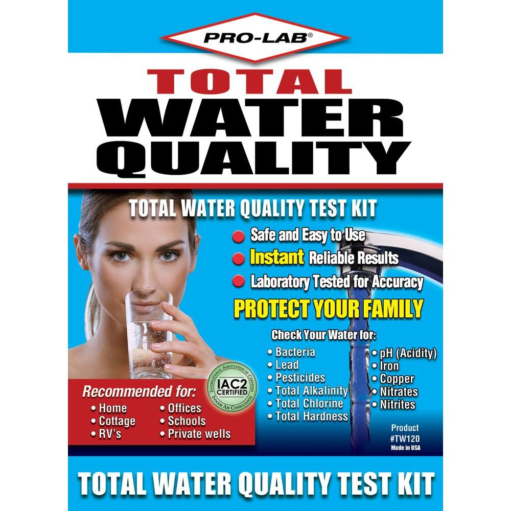 PRO-LAB Total Water Quality Test Kit for Private Wells