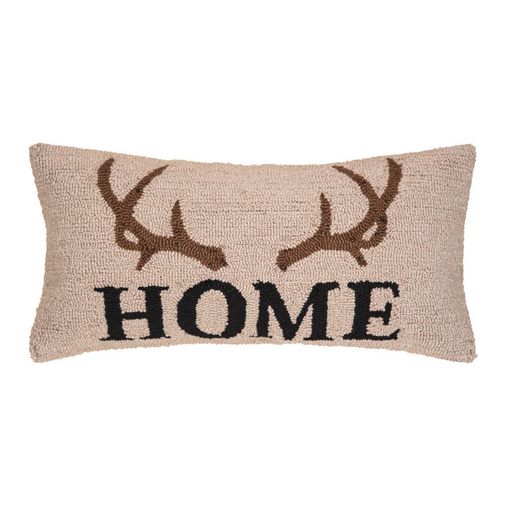 Antler Lodge Hooked Standard Pillow