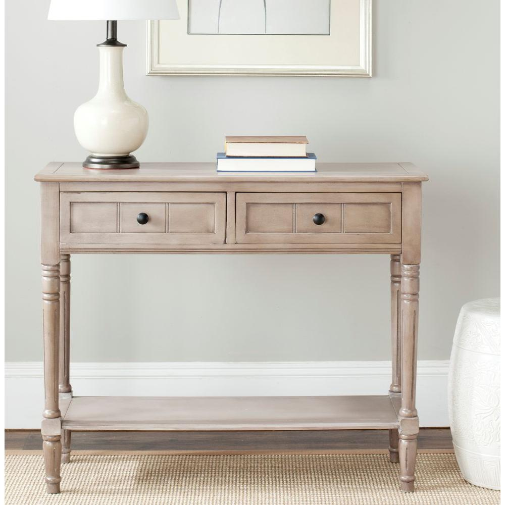 Safavieh Samantha Vintage Gray Storage Console Table