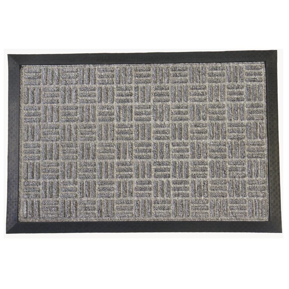 Wellington Carpet Doormat Gray 36 in. x 60 in. Rubber Carpet Mat