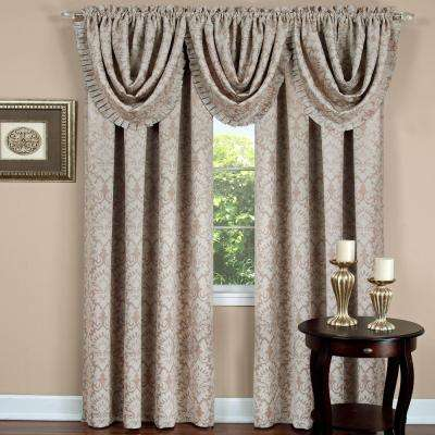 Blackout Sutton Tan Polyester Blackout Curtain Panel 52 in. W x 84 in. L