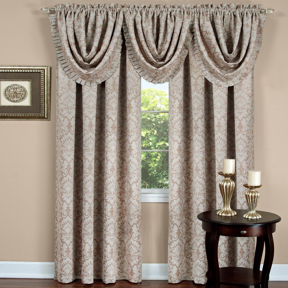 Achim Blackout Sutton Tan Polyester Curtain Panel 52 In W X 84