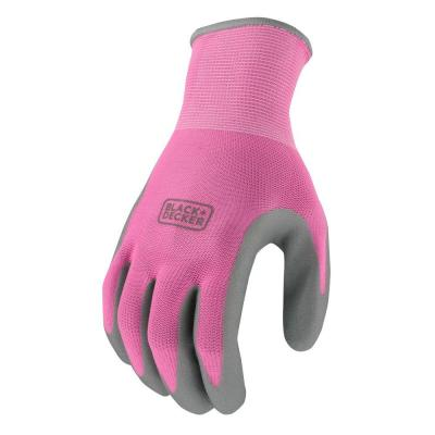 Women's Small Pink Foam Nitrile Grip Glove