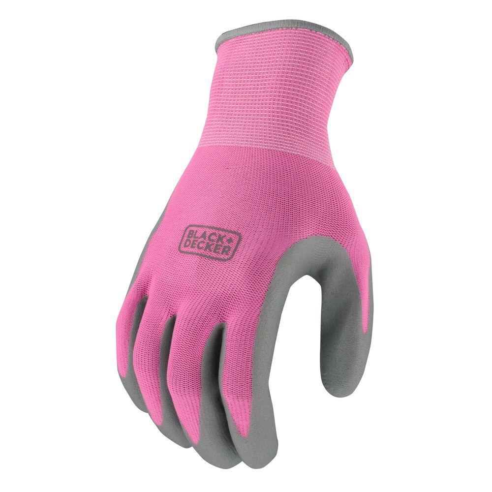 Women's Medium Pink Foam Nitrile Grip Glove